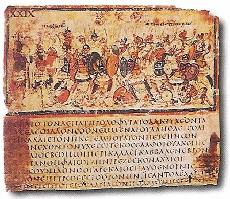 Iliad_VIII_245-253_in_cod_F205,_Milan,_Biblioteca_Ambrosiana,_late_5c_or_early_6c